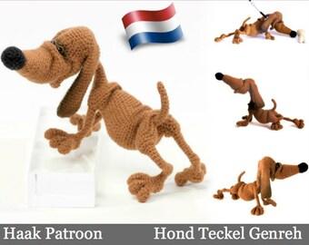 134NLY Haak Patroon Hond Teckel Genreh - Amigurumi PDF file by Chirkova Etsy