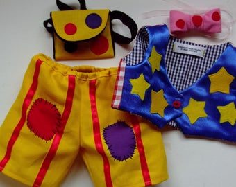 mr.tumble outfit to fit a build s bear or similar 16 inch size bear