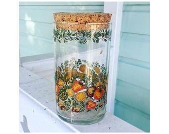 Painted Jar with Cork Lid