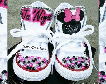 Custom Toddler Minnie/Mickey Mouse Converse