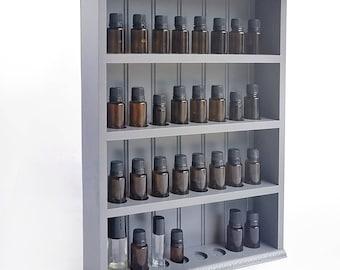 Essential Oil Shelf, Hanging Wood Display Shelf, Essential Oil Storage, Oil Organizer (BB)