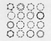 Hand-Drawn Decorative Round Frames, Images and Vectors in jpg, png and eps Format