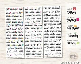 Weekly Wash Stickers - Planner Stickers - FS10