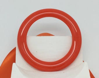 Orange Glass Bracelet-Small Fused Glass Bangle