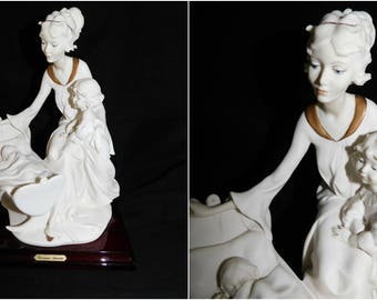 Giuseppe Armani Art Deco Style Figurine| Another New Arrival| Mother Child Baby 1990