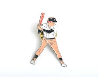 Baseball enamel pin, backpack pin, pin collector, enamel pin, sport fan badge, player enamel pin, sport fan pin, sport fan gift