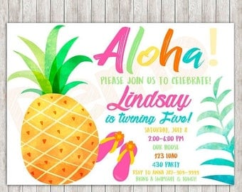 Tropical invitations | Etsy