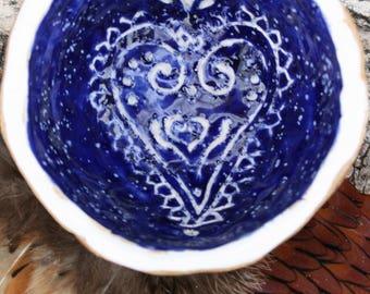 Henna Heart Ring Dish
