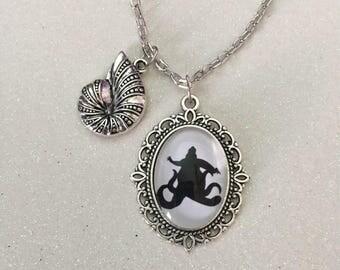 Ursula silhouette necklace, ursula necklace, the little mermaid necklace