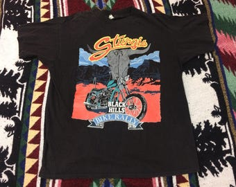 1993 Sturgis 53rd Black Hills Bike Rally Tshirt size Large