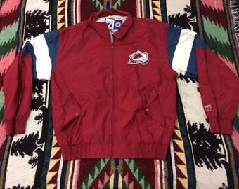 90s Logo 7 Colorado Avalanche Light Jacket Size Medium