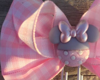 It's a Girl Minnie Mouse Disney Bow Planner Clip