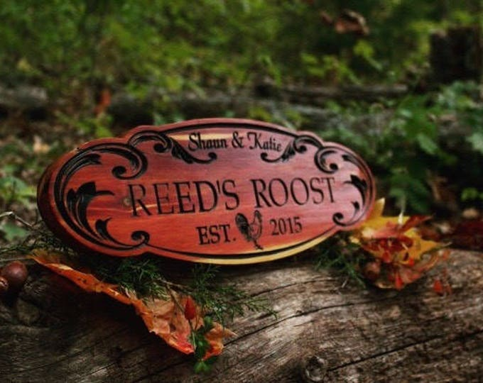 Ranch Farm Sign Custom Wooden  Sign Ranch Sign Custom Sign Personalized Family Name Sign Custom Carved Wood Sign Carved Wood Plaque