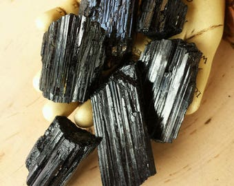 Black Tourmaline Crystals, Tourmaline, Witchcraft, Wicca, Stones, Healing Crystals, Rocks, Natural Tourmaline, Natural Stones, Crystals