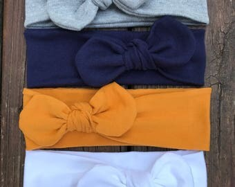 Set of 4 Top Knot Headbands! 4 Headbands for a great price/Baby turban headbands//Top Knot headbands//Kids/adults, top knot headbands.