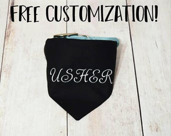 Wedding Dog Collar Bandana - Custom Dog Bandana- Dog In Wedding - Pet Wedding Bandana - Dog Usher Bandana - Dog Usher - Dog Wedding Usher