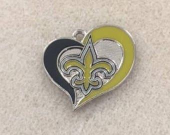 New Orleans Saints Heart Charm