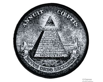 ANNUIT COEPTIS embroidered patch Pyramid All-Seeing Eye of Providence MASONIC Illuminati