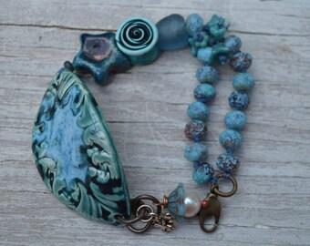 Beachy blue bracelet - Captured Moments - DayLilyStudiot