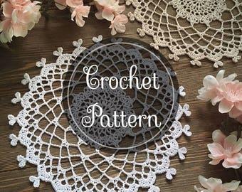 Hearts in Harmony crochet doily pattern, PDF digital download, Valentines Day