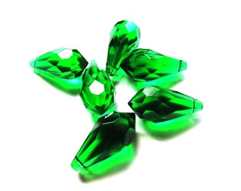 4 EMERALD GREEN DROPS NACKLACE WITH 10/22 MM