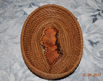 """Pine Needle Basket """"Eucalyptus"""""""
