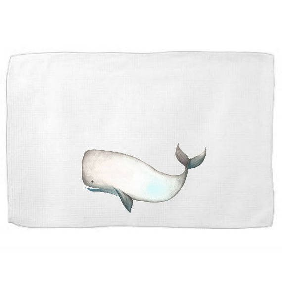 Sperm Whale Kitchen Towel,Sea Creature Dish Towel,Tea Towel,Flour Sack Towel,Whale Dish Towel,Flour Sack Kitchen Towel,Flour Sack Dish Cloth