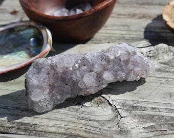 Natural Amethyst Crystal Cluster with Inclusions