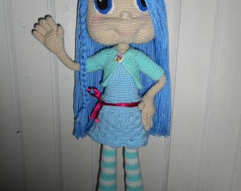 large articulated at the very long straight hair doll