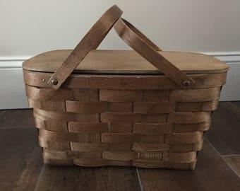 Vintage Picnic Basket  Vintage Basket
