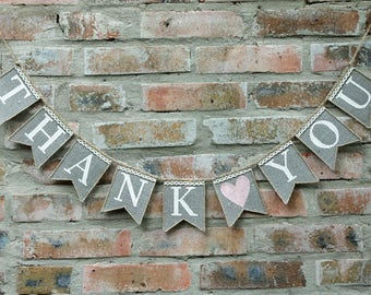 thank you banner, thank you sign, Thank you burlap banner, Thank you photo, Wedding Photo Prop, Thank you Wedding banner, thank you bunting