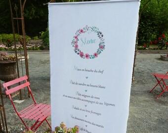 "wedding menu ""banner"" fabric"