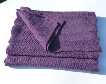 CASHMERE scarf VIOLET scarf openwork accessories heritageconceptparis cashmere, french gift, layering winter accessory
