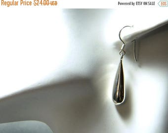 40% OFF Sterling Silver Teardrop Dangle Fish Hook Earrings