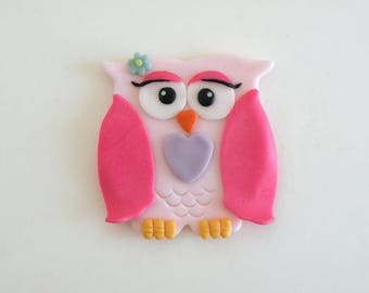 Edible cake topper, Mrs Owl