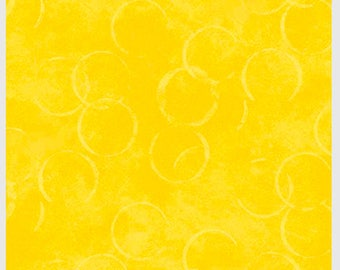 Bella Suede 2 Yellow Circles Blender from P & B by the yard