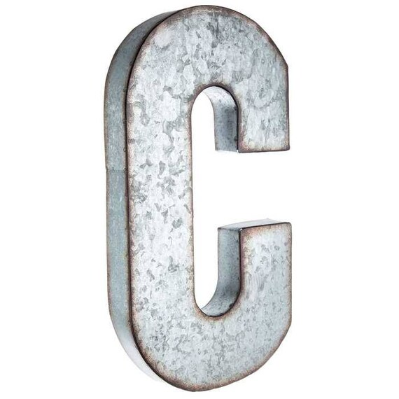 Galvanized Metal Letters Large 20 Inch Letter Vintage
