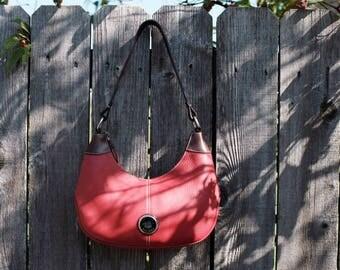 Vintage Dooney & Bourke red leather handbag