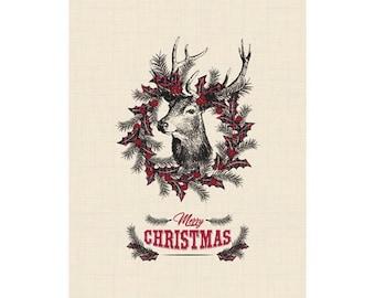 Farmhouse Christmas Poster - Downloadable Print