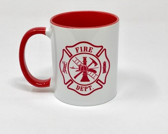 Firefighter two-toned Sublimated Mug