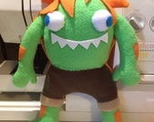 Street Fighter Inspired Blanka Chan Plush