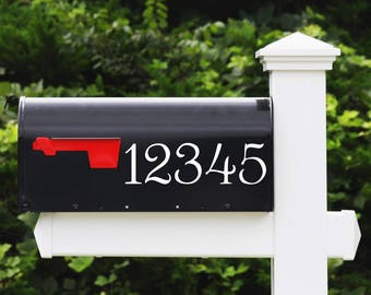 House Number Decal - Mailbox Numbers, Address Number Stickers, Home Decor