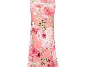 Floral Rose Sublimation Maxi Long Skirt Sizes S/M/L/XL/1XL/2XL/3XL