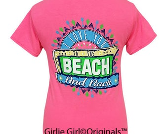 Girlie Girl Originals To The Beach Safety Pink Short Sleeve T-Shirt