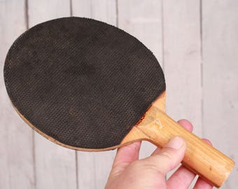 Table tennis raсket, Wooden paddle and rubber, Vintage table racket, Nishava ping pong, Paddle collectible Sport equipment Wall decor sports