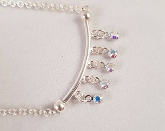 Swarovski Crystal necklace in 925 silver
