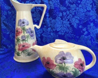 Radford Pottery Pitcher and Teapot Art Deco Antique England