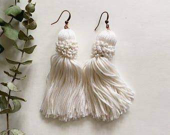 Crown Tassel Swing Earrings