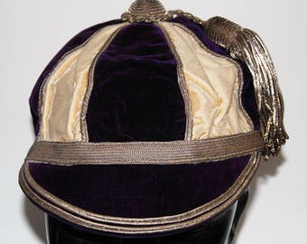 Vintage 1920s-'30s Era School Rugby Cap, possibly King's College, Cambridge -- Free Shipping US & Canada