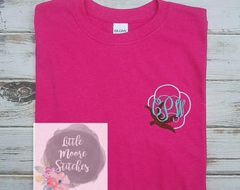 Cotton Boll Monogram Tee